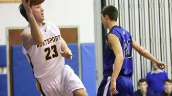 Northport's Joe Stockman attempts to save a ball