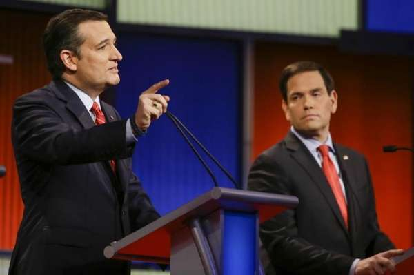 Republican presidential candidate Sen. Ted Cruz, R-Texas, answers