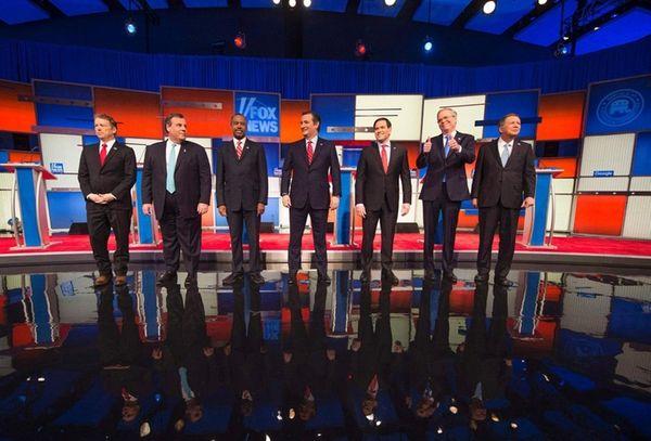 Republican contenders, from left, Sen. Rand Paul, New