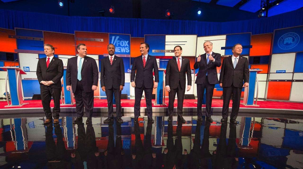Republican contenders, from left, Sen. Rand Paul, New