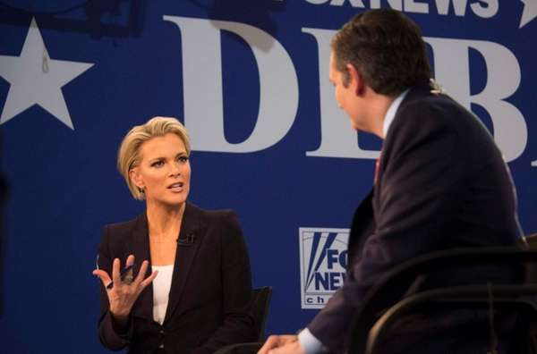 FOX news presenter Megyn Kelly speaks to