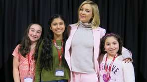 Kate Hudson meets with Kidsday reporters from left,