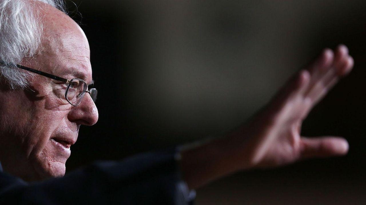 Democratic presidential candidate Sen. Bernie Sanders speaks during