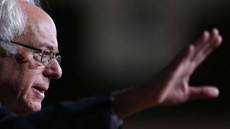Democratic presidential candidate Sen. Bernie Sanders speaks during