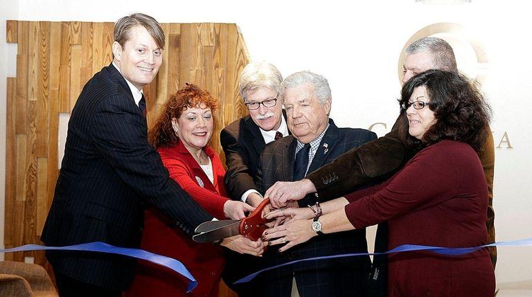 Columbia Care CEO Nicholas Vita, Donna Schwier of