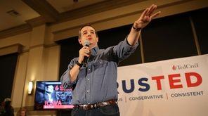 Republican presidential candidate Sen. Ted Cruz speaks during