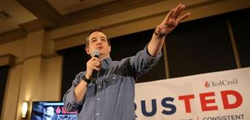 Republican presidential candidate Sen. Ted Cruz speaks during