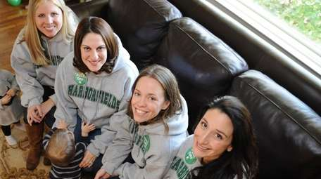 Four of the women urging the Harborfields school