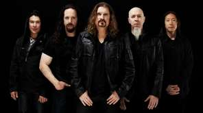 Dream Theater band members, from left, drummer Mike