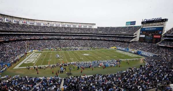 Fans watch the San Diego Chargers play
