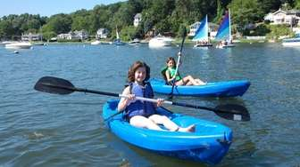 Kayaking on Centerport Harbor is part of the