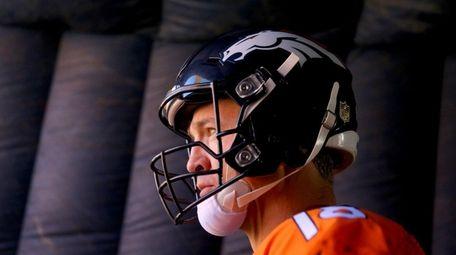 Peyton Manning of the Denver Broncos looks