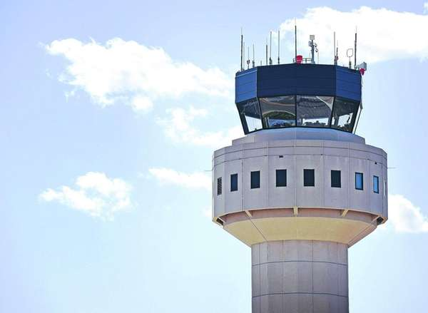 Photos of the control tower at Long Island