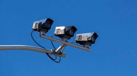 A license plate reader installed on South Brookside