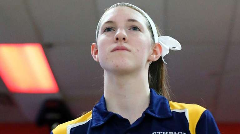 Bethpage's Emily Dean stands prior to the Nassau