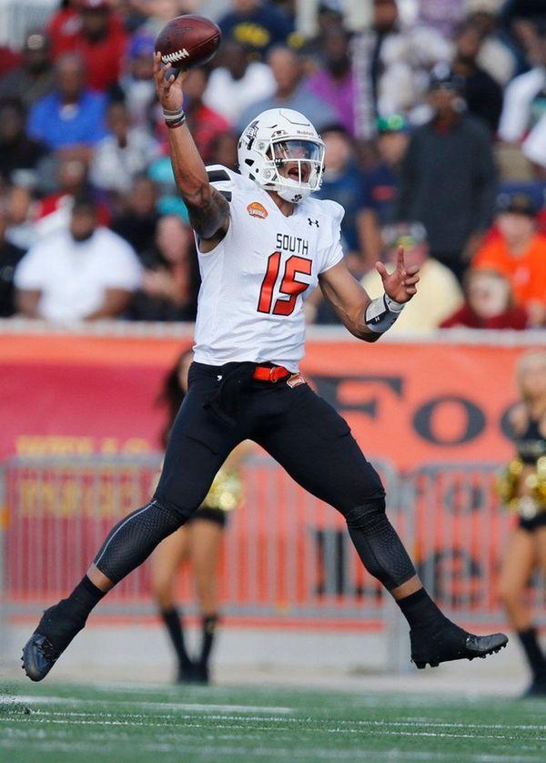 South team quarterback Dak Prescott, of Mississippi