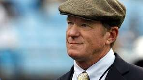 Carolina Panthers general manager Marty Hurney watches