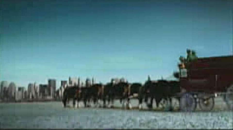 A Budweiser commercial produced after 9/11. It aired