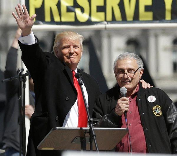 Donald Trump and Carl Paladino, who ran for
