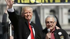 Donald Trump and Carl Paladino, who ran for