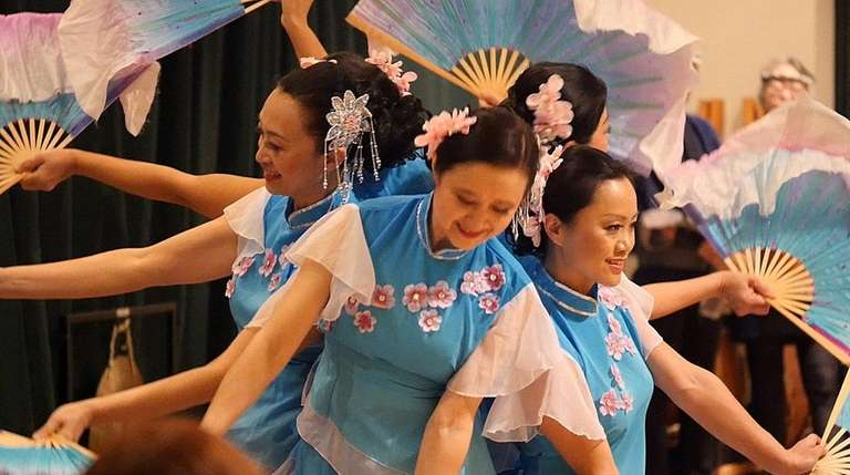 The Long Island Chinese Dance Group performs at
