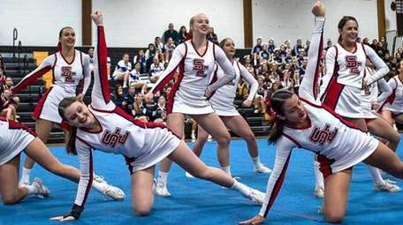 Smithtown East competes in the Section XI Cheerleading