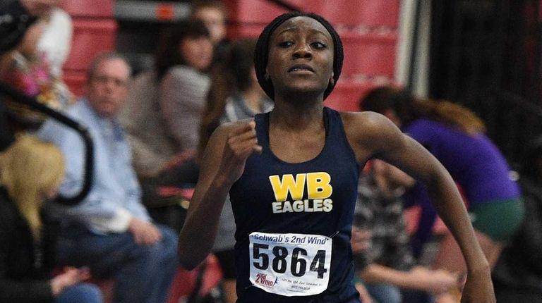 West Babylon's Brittany Korsah runs the 300-meter dash