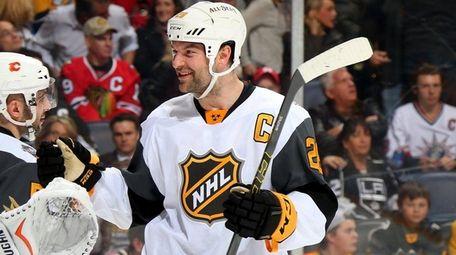 John Gibson of the Anaheim Ducks celebrates with