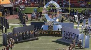 Players are introduced before the NFL Pro Bowl,