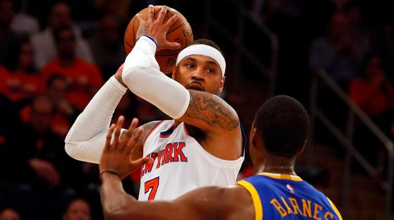 Carmelo Anthony of the New York Knicks controls