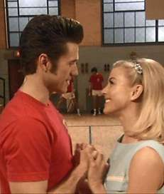 Aaron Tveit and Julianne Hough are Danny and