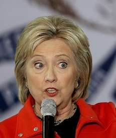 Democratic presidential candidate former Secretary of State Hillary