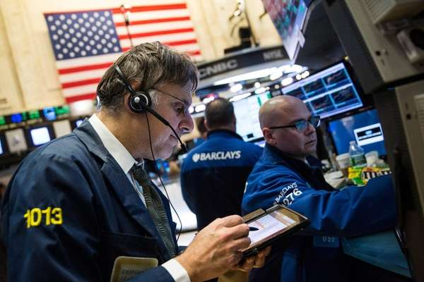 Stocks opened lower Monday, Feb. 2, 2016, the