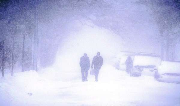 Visibility was limited along National Boulevard in Long