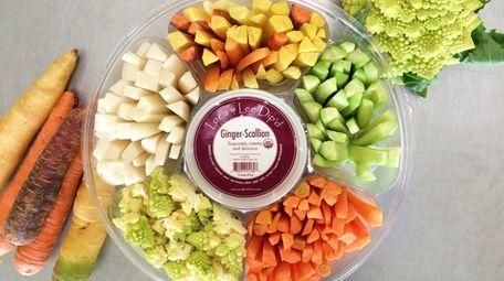 Organic vegetable platter for Super Bowl Sunday at