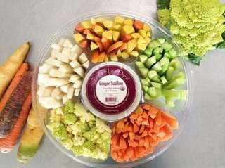 Organic vegetable platter for Super Bowl Sunday at