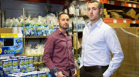 Eric and Matthew Sternberg, of Ecoclean Solutions, with