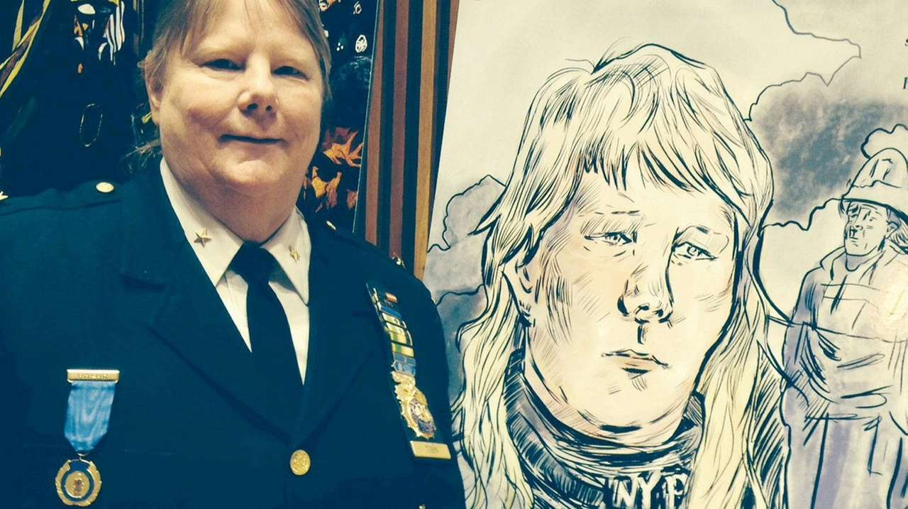 NYPD Deputy Chief Theresa Tobin stands near an