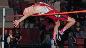 Dan Claxton of Smithtown East competes in the