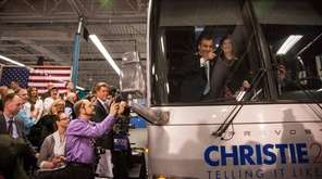 Republican presidential hopeful New Jersey Governor Chris Christie