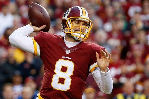 Washington Redskins quarterback Kirk Cousins (8) passes