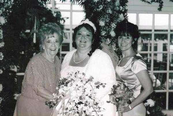 Remembering tender moments: Dorothy Battaglia, left, with her