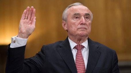 NYPD Commissioner William Bratton is sworn in on