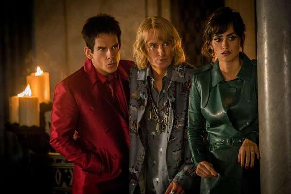 Ben Stiller, left, stars as Derek Zoolander, Owen