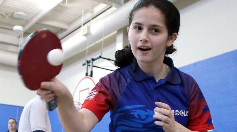 14-year old ping-pong Olympic hopeful Estee Ackerman gives