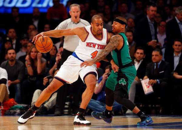 Arron Afflalo of the New York Knicks looks