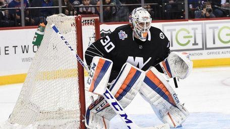 Islanders rookie goalie Jean-Francois Berube had 40