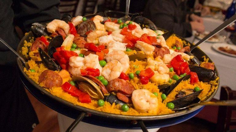 Sangria 71 serves paella Valenciana, the Spanish restaurant's