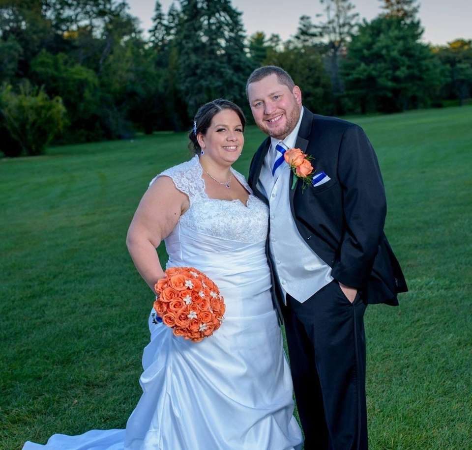 Melissa and Rob Viala's wedding, on Oct. 10,