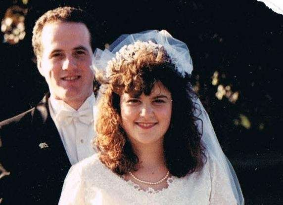 Our wedding day, Oct. 7, 1990.